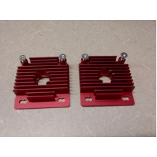 2 Heatsinks for mounting 40mm fan to NEMA 17 motor.
